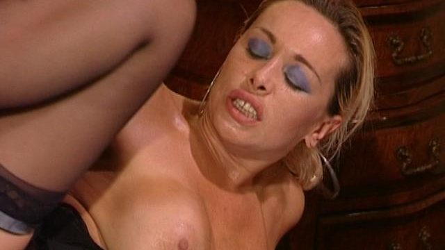 Huge-boobed Towheaded Wifey In Tights Getting Rectally Pounded By Way Of A Ample Pink Cigar