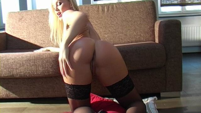 Succulent Towheaded Superstar In Pantyhose Silvia Saint Taunting Us Together With Her Lush Bum