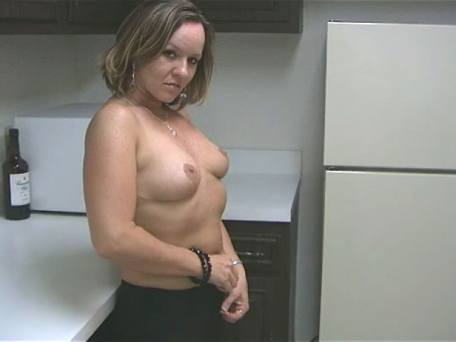 Sensuous Light-haired Wifey Tessa Caressing Her Marvelous Figure With Fervor Within The Kitchen